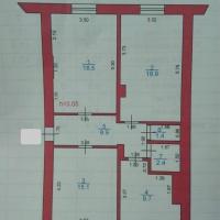 3-к квартира, 73 м², 1/2 этаж
