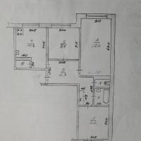 3-к квартира, 64.80 м², 3/5 этаж