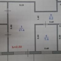 4-к квартира, 58 м², 5/5 этаж