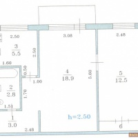 2-к квартира, 44 м², 3/5 этаж