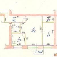 2-к квартира, 43.50 м², 5/5 этаж