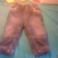 Тёплые джинсики размер 60-68
