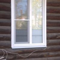 Окна в деревянный дом.